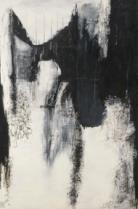 Mes noirs désirs, ces noirs desseins Techniques mixtes sur toile 183 x 122 cm