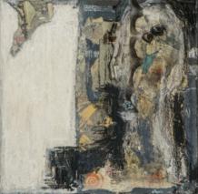 L'animalité du corps est un poème Techniques mixtes sur toile 17,5 x 17,5 cm