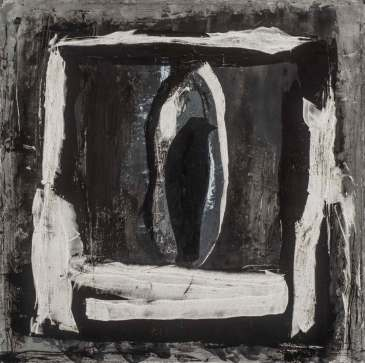 La noce, techniques mixtes sur toile, 51 x 51 cm
