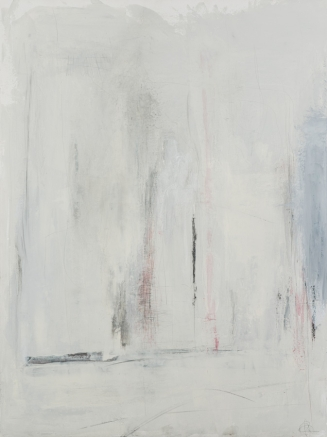 Ce n'est pas la lumière du jour qui fait qu'on peut espérer ou pas, techniques mixtes sur toile, 102 x 76 cm
