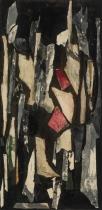 Chaque baiser long, techniques mixtes sur toile, 102 x 51 cm