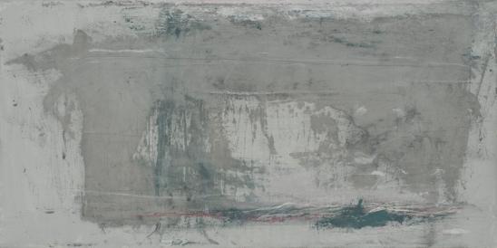À mes hauteurs, techniques mixtes sur toile, 31 x 61 cm