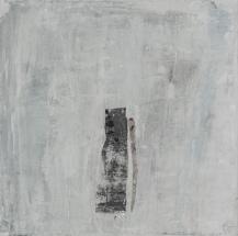 Sous le couvert d'un ciel sacré, techniques mixtes sur toile, 51 x 51 cm