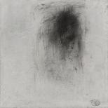 Choses mortes, choses mortelles, techniques mixtes sur toile, 17,5 x 17,5 cm
