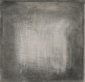 La fin du jour, techniques mixtes sur toile, 17,5 17,5 cm