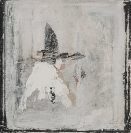 Soirs, techniques mixtes sur toile, 17,5 x 17,5 cm