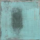 Petites parures, égratignures, techniques mixtes sur toile, 17,5 x 17,5 cm