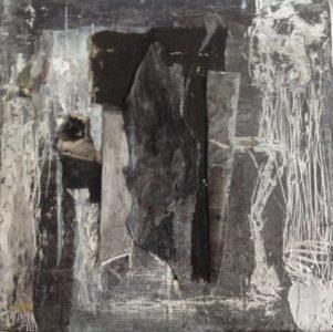 Techniques mixtes sur toile, 17,5 x 17,5 cm