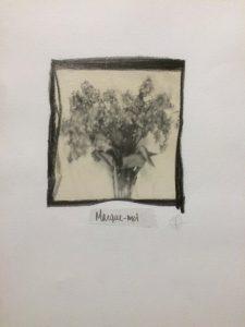 Marque-moi, techniques mixtes sur papier coton, 43 x 33 cm