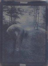 Le jour buvait tous les poisons du soir (Éluard) no 2, cyanotype et gomme bichromatée sur papier coton