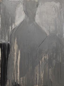 L'esprit, techniques mixtes sur toile, 102 x 76 cm